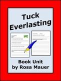 Tuck Everlasting Novel Study Chapter Quizzes