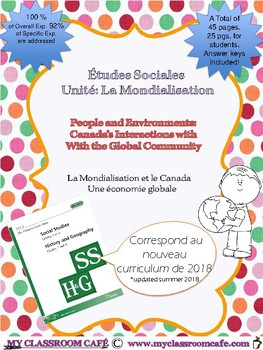 Études Sociales Unité #3 Canada's Interactions with the Gl