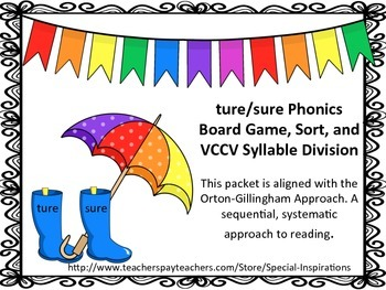 ture or sure? Phonics Board Game/Sort Literacy Center Orton-Gillingham Aligned