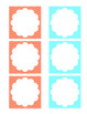 turquoise/coral pocket calendar numbers & holidays