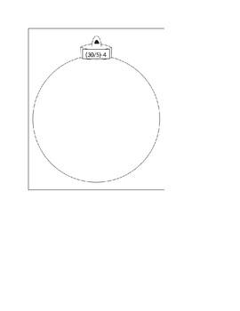 Christmas Ornament - 2-step math problems