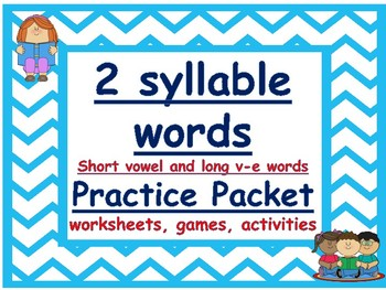 two syllable words: short vowel and long v-e words