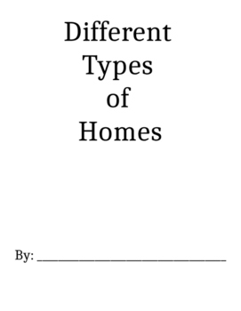 types of homes mini book for students
