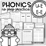 Long Vowel Worksheets u-e, e-e