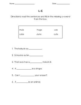 u-e split digraph worksheet