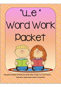 u_e Word Work Packet