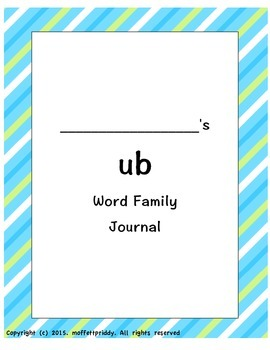 ub Word Family Journal