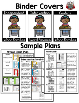 UCK Word Family: Intervention, Homework, Morning Work, Centers,