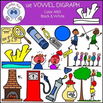 ue Vowel Digraph Clip Art