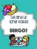 ue and ui Long Vowel Bingo [10 playing cards]