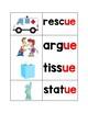 ue/ew word cards