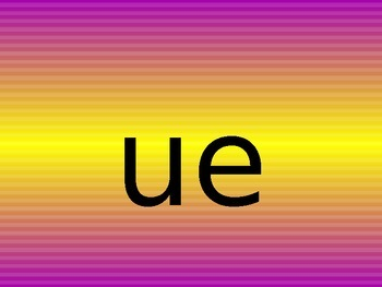 ue uw alternate spelling of the same sound