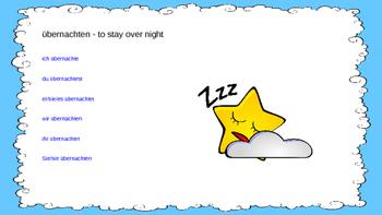übernachten - Staying Overnight includes Subjunctive Practice