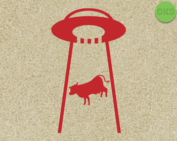 ufo cow SVG cut files, DXF, vector EPS cutting file instant download for cricut