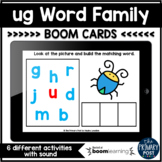 ug Word Family Boom Cards™   Distance Learning