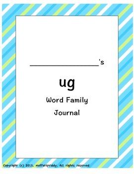 ug Word Family Journal