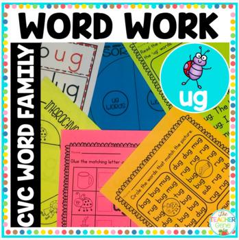 CVC Word Family 'ug' Word Work