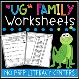 UG Word Family Worksheets - UG Family Worksheets - UG Worksheets