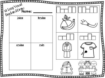 ui Long Vowel Read-and-Draw