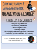 Quick Interventions and Accommodations for Students: Organ