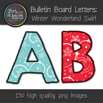 Bulletin Board Letters: Winter Wonderland Swirl (Classroom Decor)