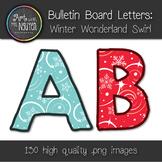 Bulletin Board Letters: Winter Wonderland Swirl (Classroom Decor)