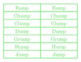 ump Word Family Go Fish