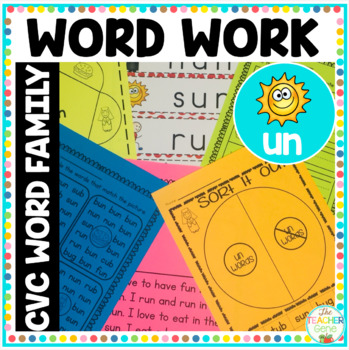 'un' Word Family Word Work