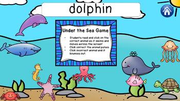Sea Animals - NO PREP interactive Power Point ESL Lesson - Incl. Handouts