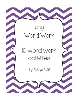 ung Word Work Pack