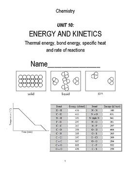 unit 10 packet - potential energy diagrams, bond energy, kinetics