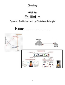 unit 11 - Dynamic Equilibrium and Le Chatelier's Principle