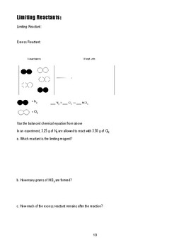 unit 8 packet - the mole and stoichiometry