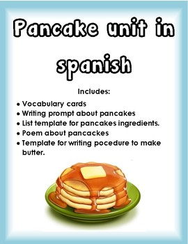 unit on pancakes in spanish/ unidad con panqueques