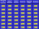 Jeopardy - The Road to the American Revolution (A 5th Grade Review)