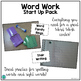 Word Work Start Up Pack (Choice Cards, Printables and Explanations)