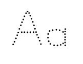 upper and lower case ABC tracing- big letters (spanish)