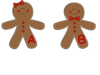 upper and lowercase gingerbread match