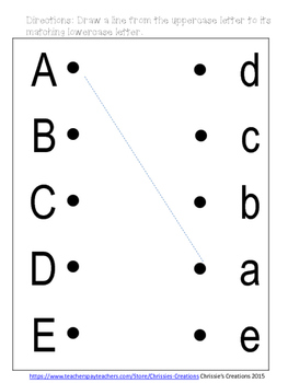 Handwriting letter practice and learning uppercase and lowercase letters