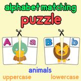 uppercase to lowercase English alphabet matching puzzle wi
