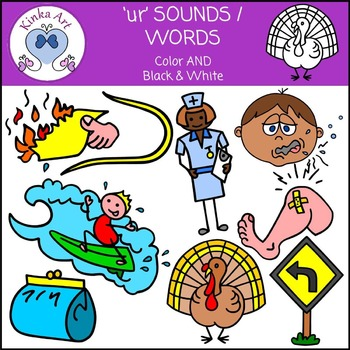 ur Sounds / Words Clip Art