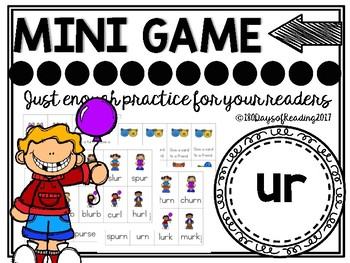 ur  r-controlled Phonics Game