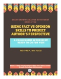 using fact vs opinion skills to predict author's perspective
