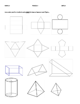 using nets and 3D shapes for volume and surface area