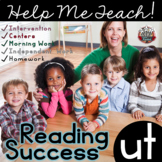 ut Word Family: Intervention, Homework, Morning Work, Centers,