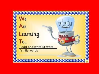 ut word family- QLD FONT (Australian Curriculum)