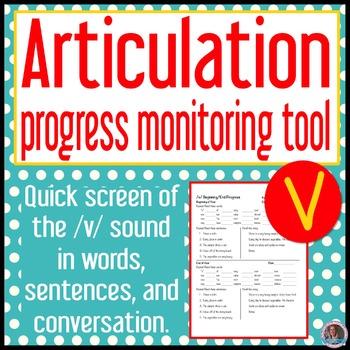 /v/ articulation baseline and end progress monitor