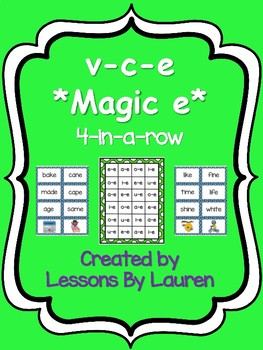 v-c-e *magic e* 4-in-a-row activity