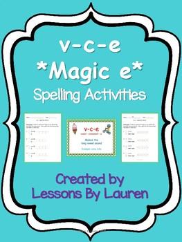v-c-e *magic e* spelling activities