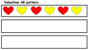 valentine AB pattern for preschoolers